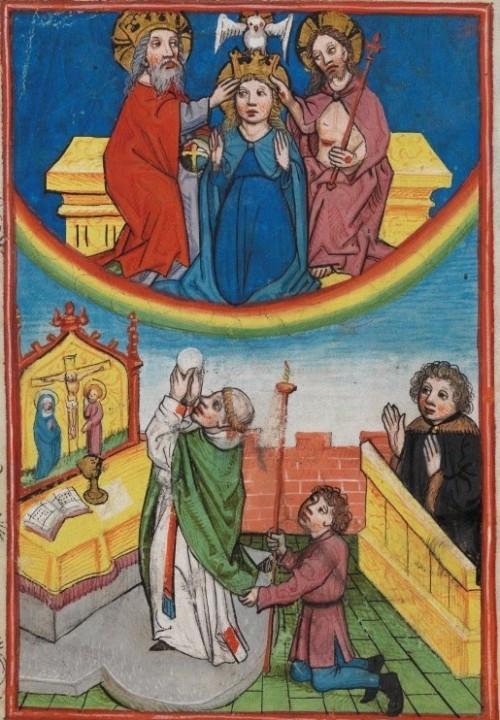 coronacion de maria y sacrificio de la misa