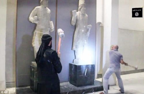 isis detruye el museo de mosul
