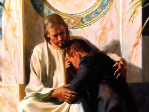 jesus consolando a un hombre misericordia