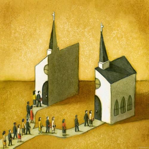 iglesia dividida
