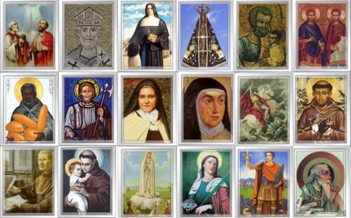 mosaico de santos
