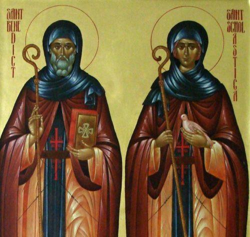 san benito y santa escolástica