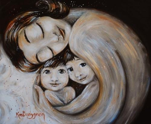 madre con bebes en el utero
