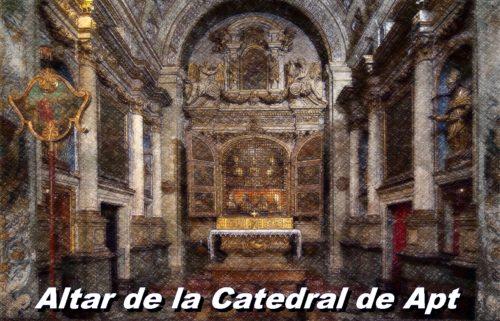 Interior de la catedral de santa ana en apt