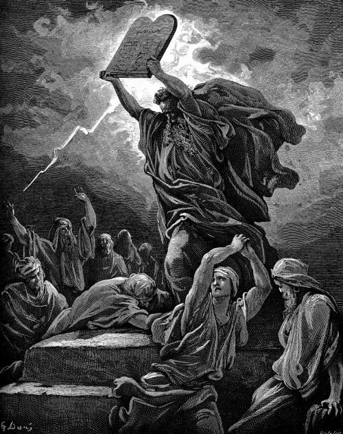 gustave dore tabla 10 mandamientos