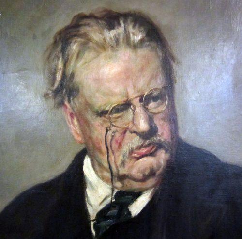 retrato de chesterton dibujo