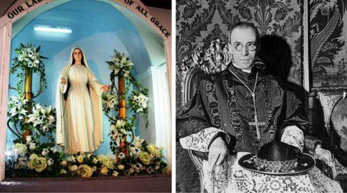 Imagen de María Mediadora de Lipa y Pio XIII