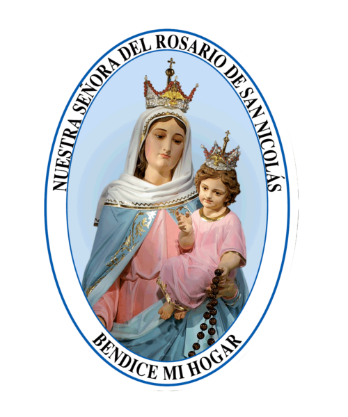 adhesivo de ns del rosario de san nicolas