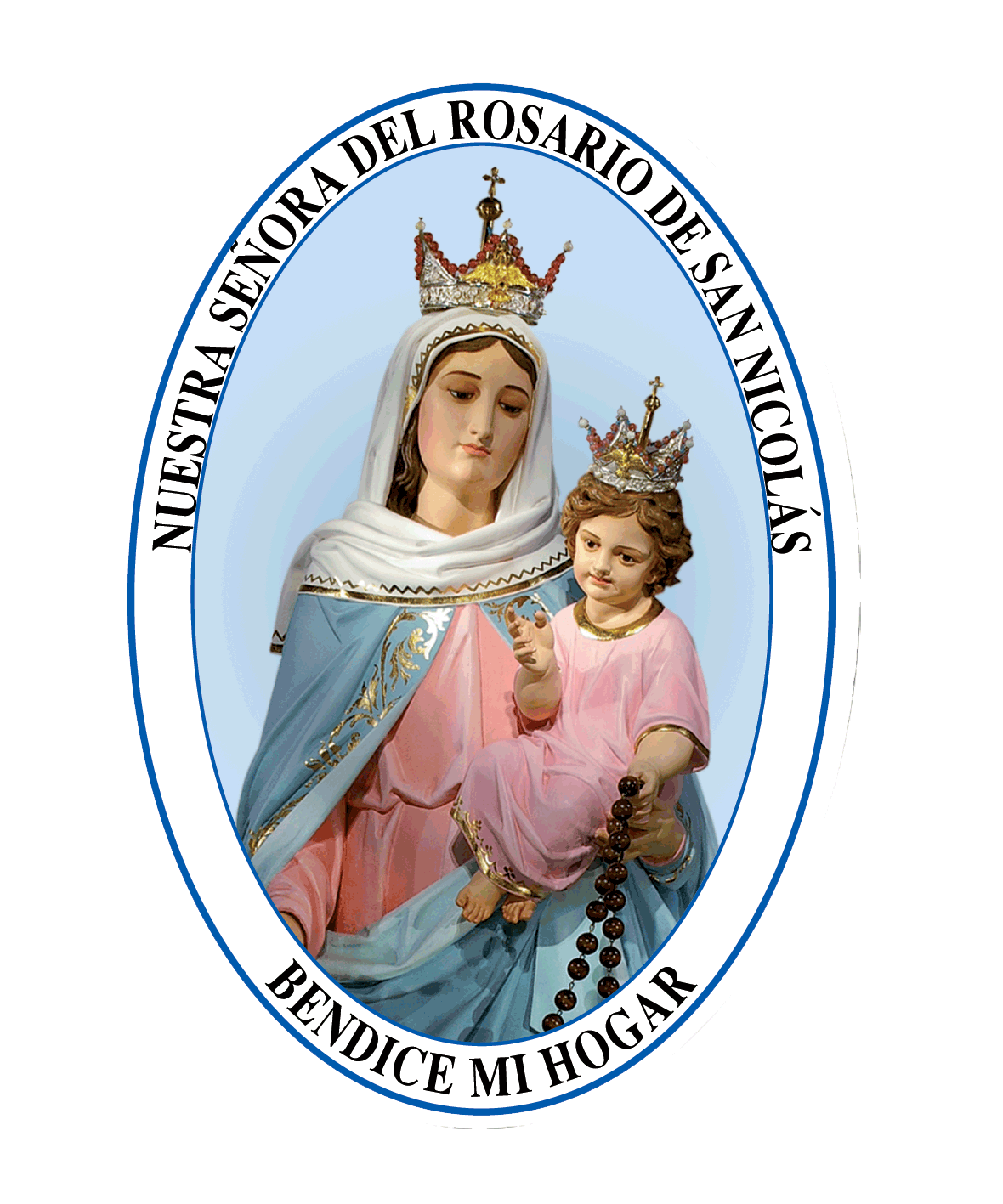 Aparicin de nuestra seora del rosario de san nicols aprobada por adhesivo de ns del rosario de san nicolas altavistaventures Choice Image