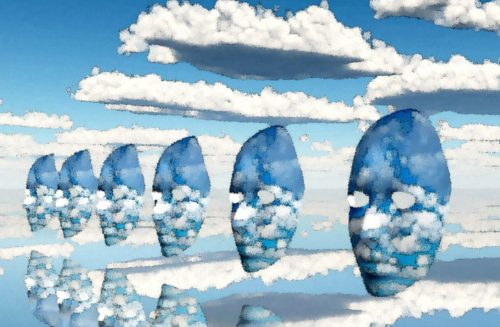antifaces entre las nubes