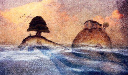 dos islas dibujo