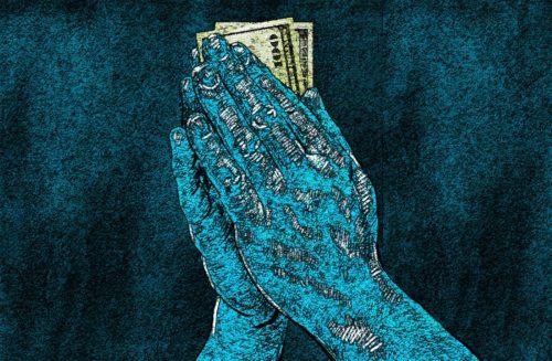 manos con dolares dibujo