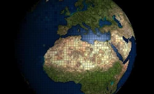 tierra cuadriculada