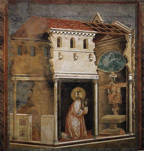 San Francisco de Asís ante la Cruz de San Damiano