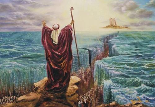 moises abre el mar rojo