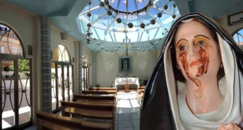 Madonna de Giampilieri con fondo iglesia
