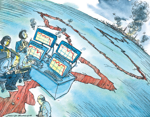 crisis terremoto dibujo