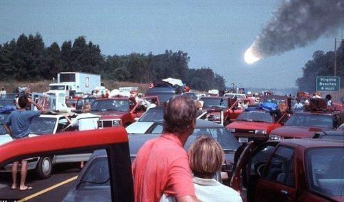 gente ve cayendo meteorito a la tierra