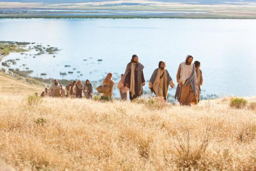 jesus y discipulos sermon del monte fondo