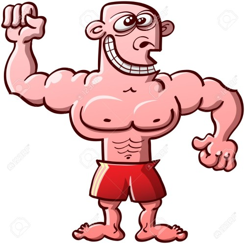 orgulloso con musculos