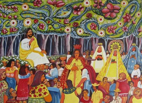 pintura julio breff guilarte sermon del monte fondo