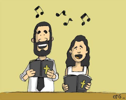 dibujo-cantando-en-misa