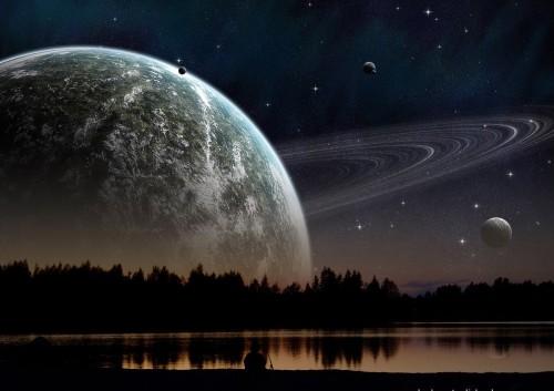creacion universo planetas fondo
