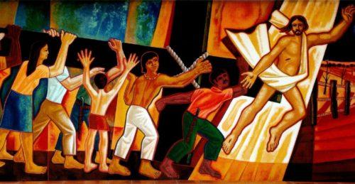 Mural San Felix teologia de la liberacion