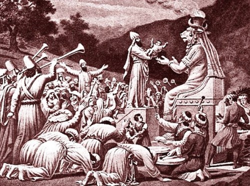 sacrificio humano a moloch o baal