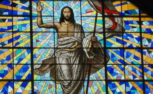 vitral de jesus resucitado fondo