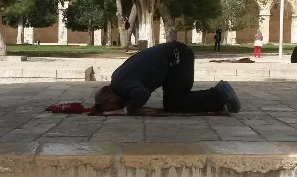 musulman orando en solitario