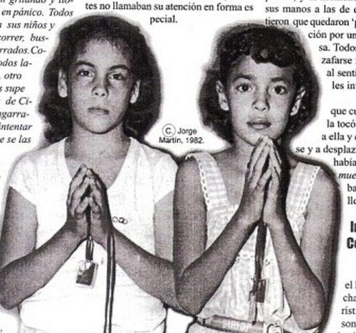 Niñas Aida Rivera, y Migdaly Cintrón vieron y conversaron con la Virgen María en la Santa Montaña en 1982
