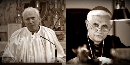 Padres Dollinger y Ratzinger