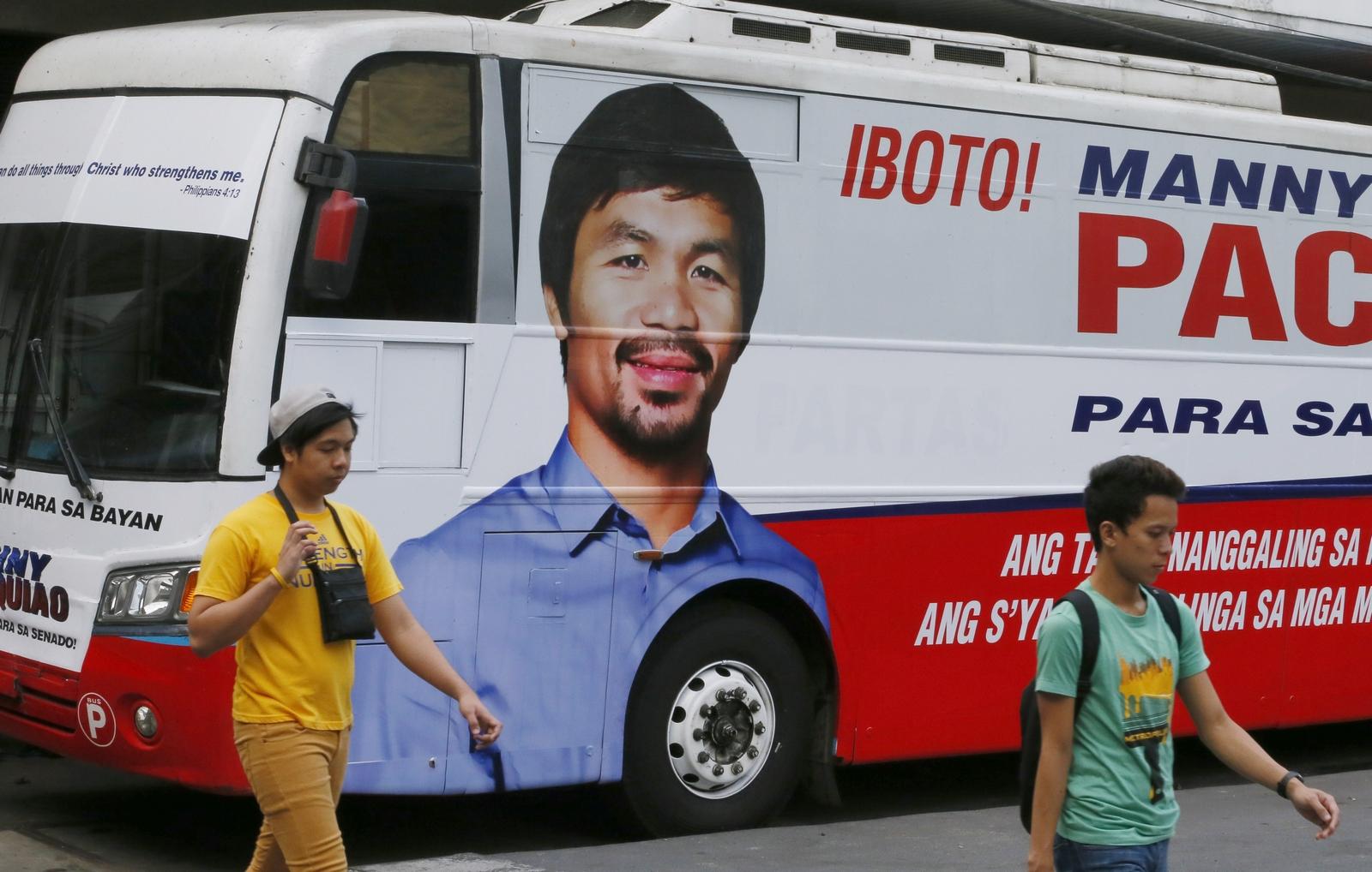 El Famoso Boxeador Filipino y Cristiano, MANNY PACQUIAO, fue Electo Senador [con una Plataforma Cristiana]…