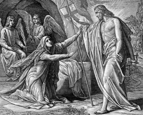 aparicion de jesus a maria magdalena fondo