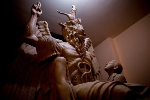 baphomet escultura satanica