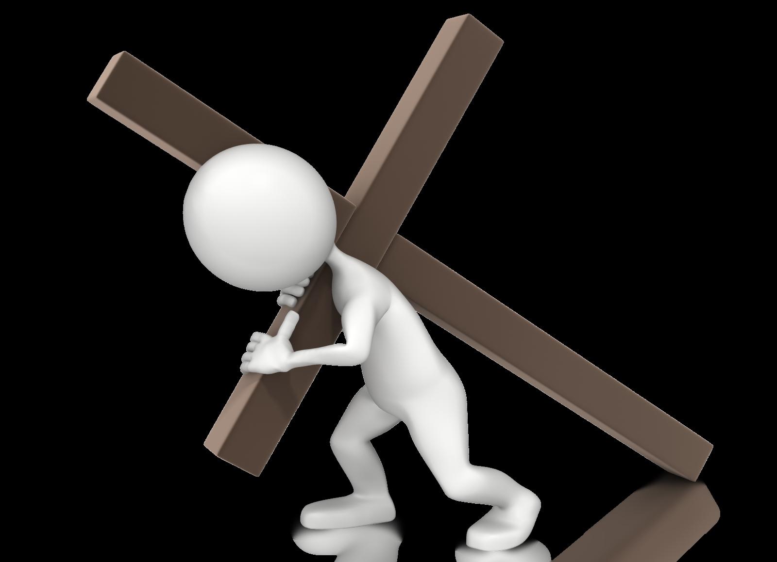 dibujo llevando la cruz fondo