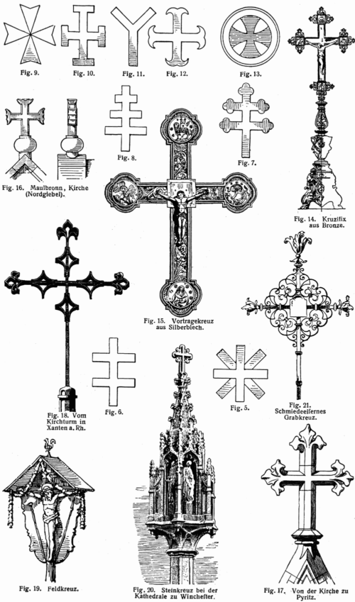 distntos simbolos de la cruz cristiana