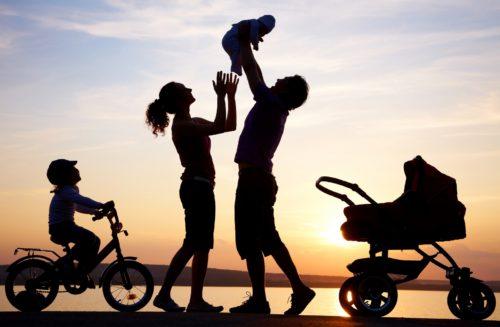familia con hijos fondo