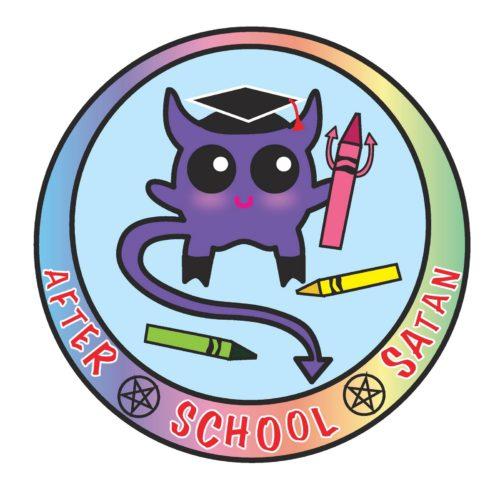 logo club escolar satanico