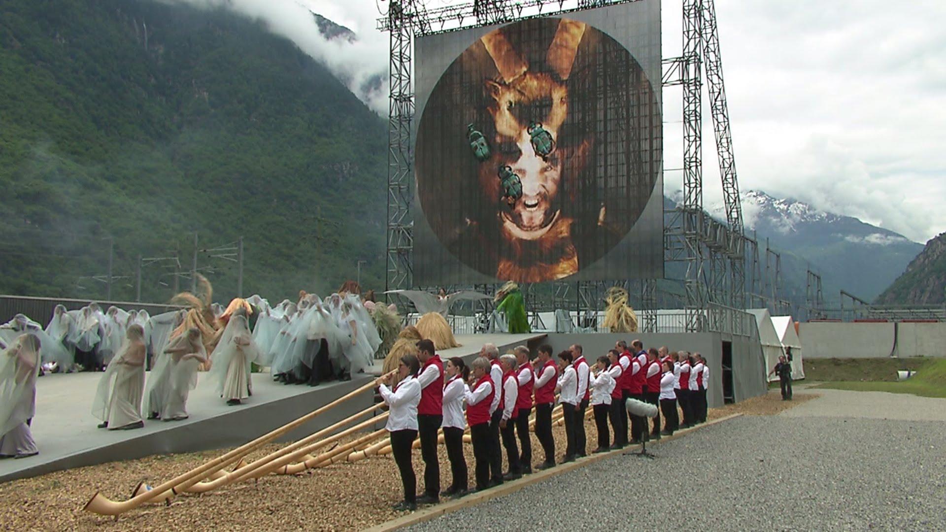 Descarada REPRESENTACIÓN SATÁNICA en la Inauguración del Túnel Más Largo del Mundo