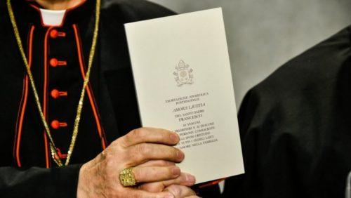 amoris laetitia ejemplar sostenido por obispos