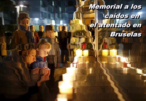 memorial de atentado en bruselas