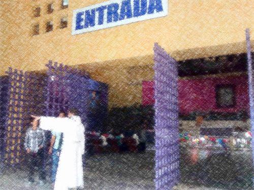 Iglesia de Guadalupe con las puertas abiertas