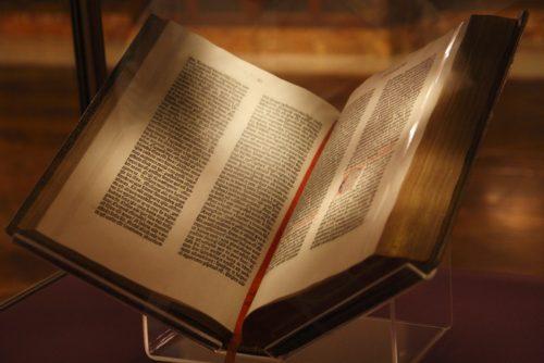 biblia de gutemberg en new york