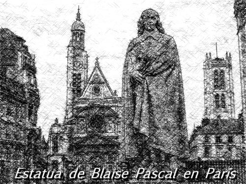 estatua de blaise pascal