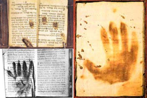 mano de objeto en el museo del purgatorio