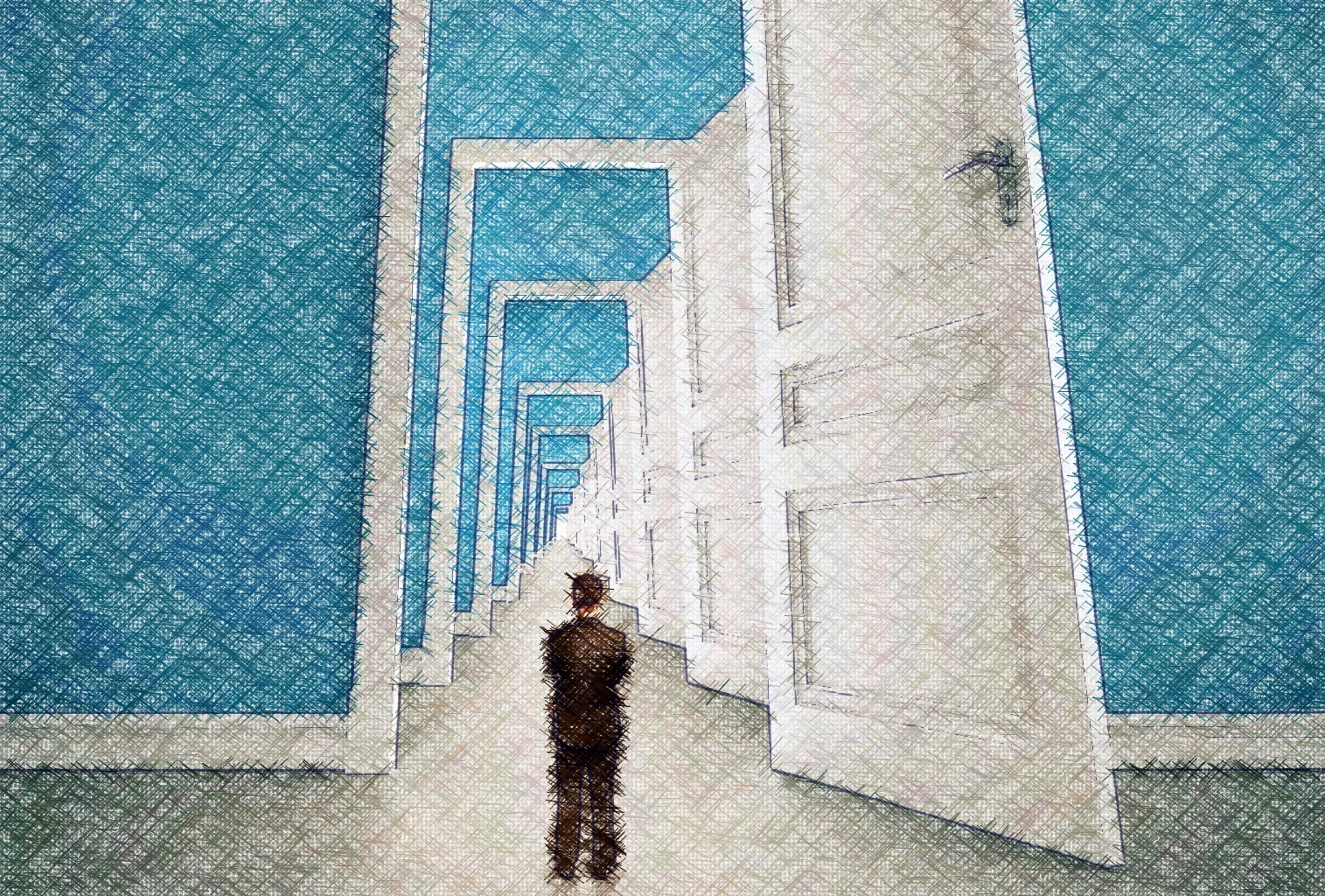 varias puertas que se abren