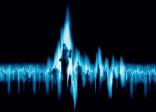 una persona en una secuencia de sonido