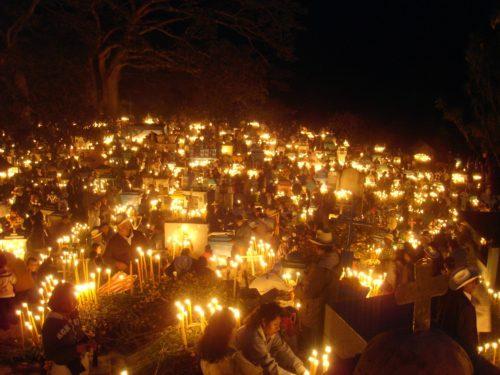 velas en dia de los muertos
